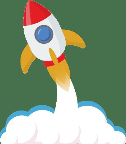 Взлетающая ракета иллюстрация